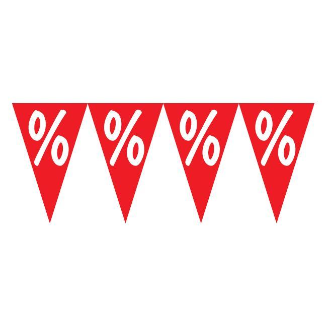 """Wimpelkette """"Prozentzeichen"""""""