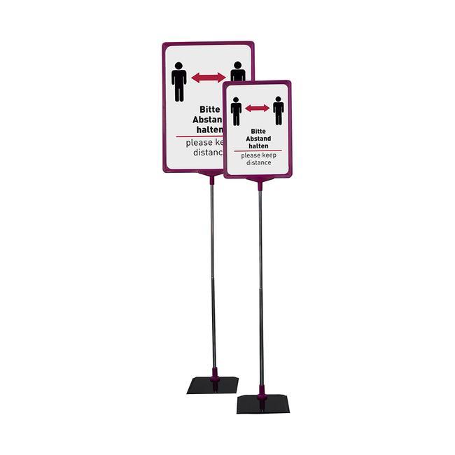 """Info-Plakatständerset """"Abstand halten"""", DIN A4"""
