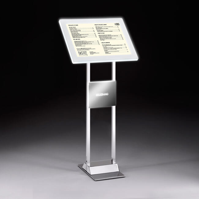 "LED Infodisplay mit Magnetrahmen ""Stahl"""