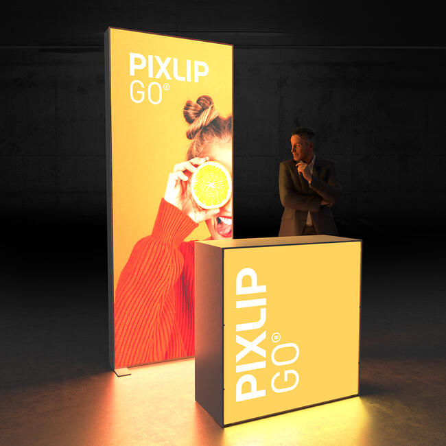 """Pixlip GO  LED Messestand  """"Stand HL10"""""""
