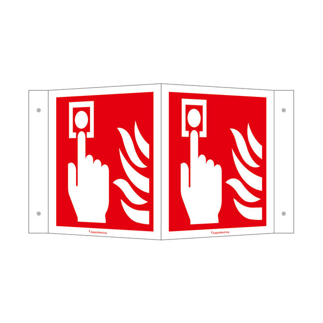 Brandmelder (manuell) Winkelschild