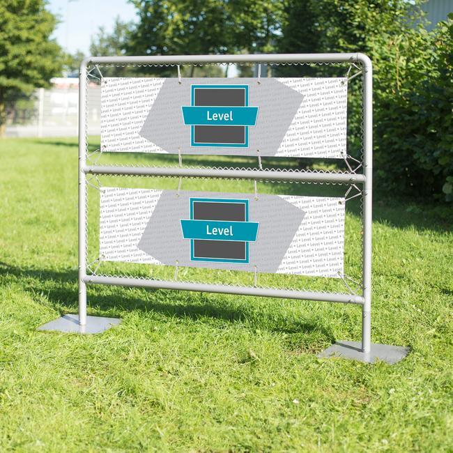 """Bannerrahmen-Stecksystem Stahl """"Level"""" feuerverzinkt"""
