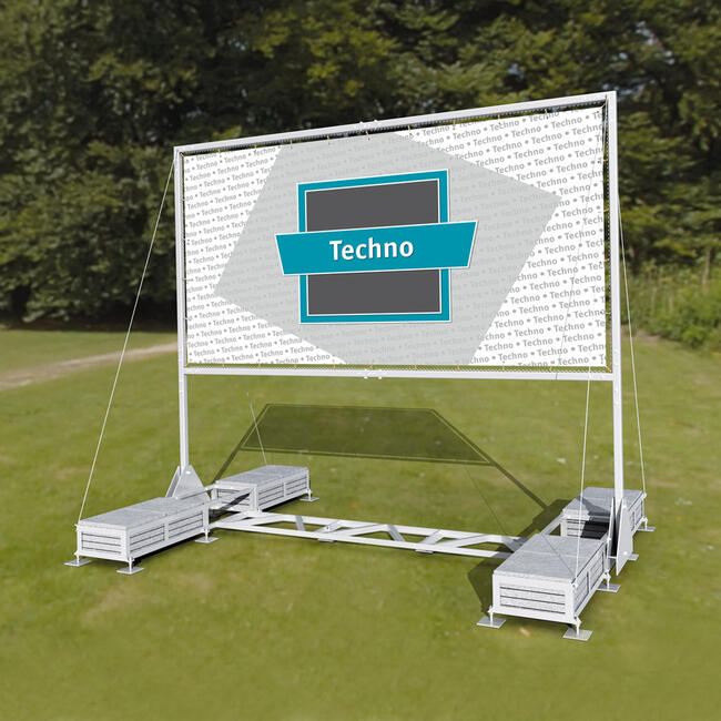 """Werbesystem Techno I """"Mobil"""" mit Klappfunktion"""