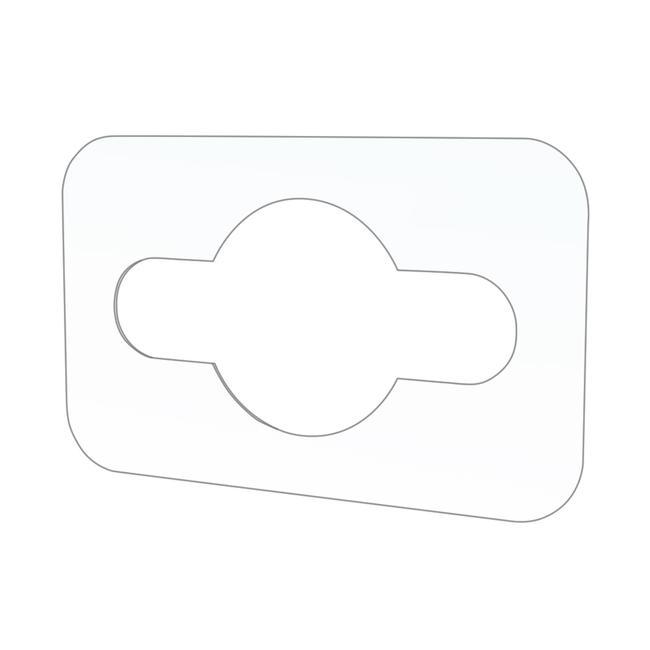 Nachrüstklebehaken mit Eurolochung 0,25 mm