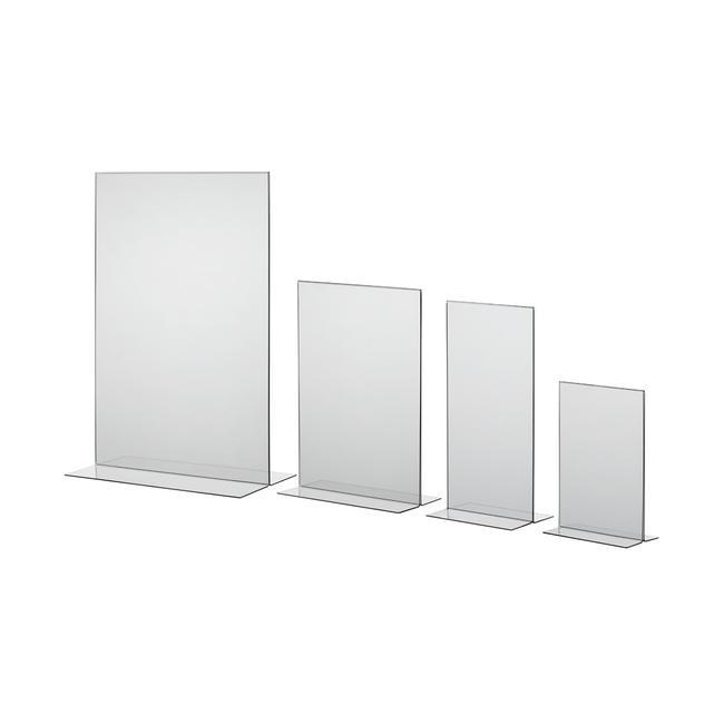 """Menükartenhalter """"T-Form"""" in DIN-Formaten, glasklar, 1 mm"""