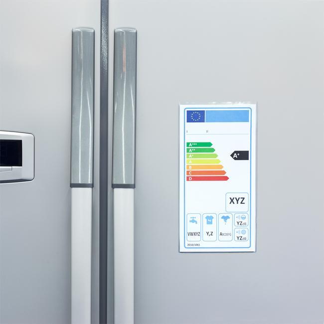 Schutzhülle für Energielabel selbstklebend