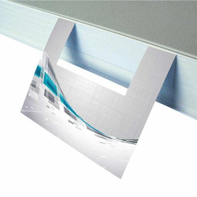 Regalstopper mit Sichtfenster