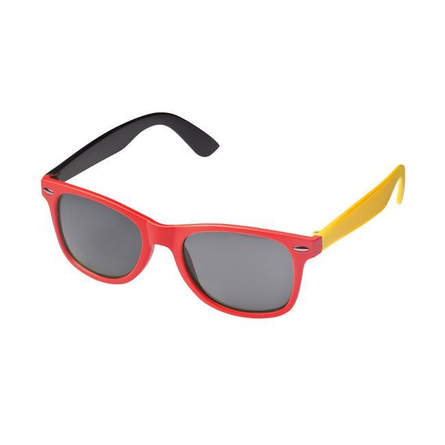 Sonnenbrille Nations in schwarz-rot-gelb