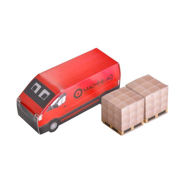 Lieferwagen mit 2 Kartons Pfefferminz