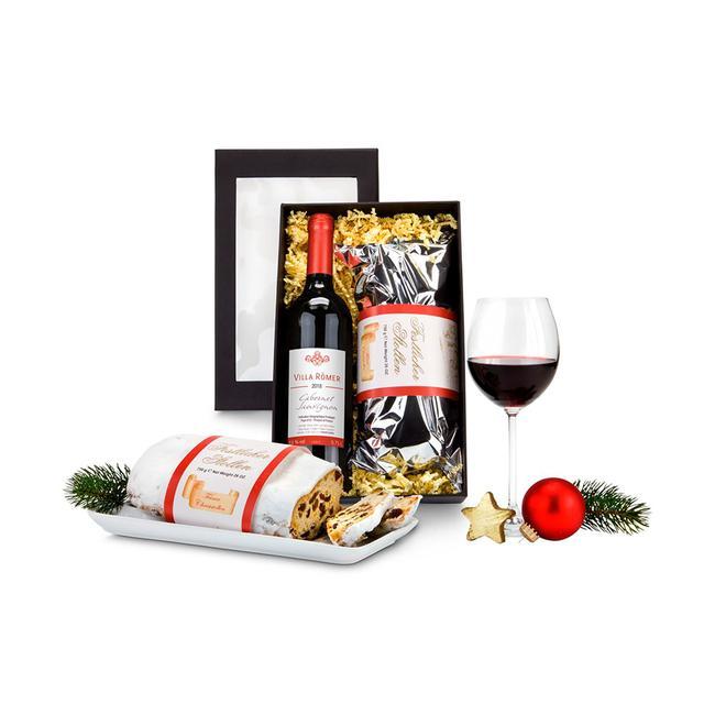 """Geschenkset """"Rotwein & Stollen"""""""
