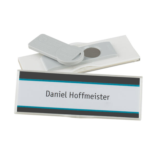 "5er Set Papiereinleger Namensschild ""Podio Paper slim"""