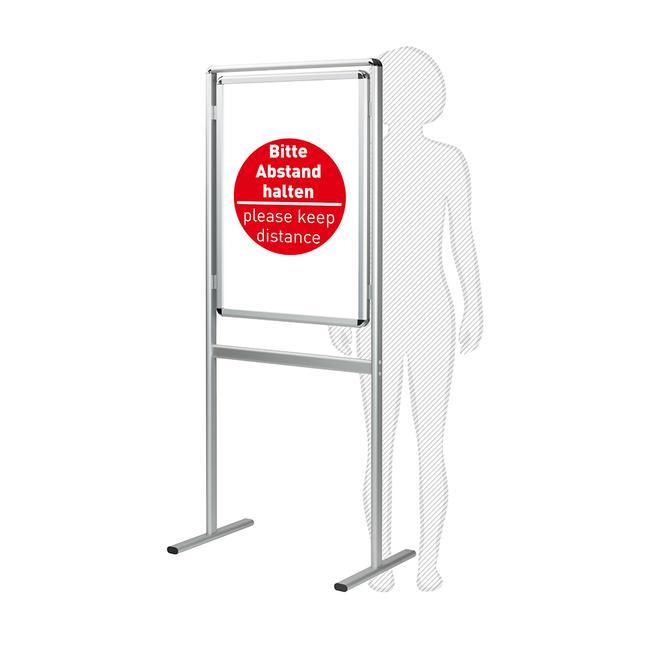 """Plakatständer """"Info"""" mit Plakaten - Bitte Abstand halten"""