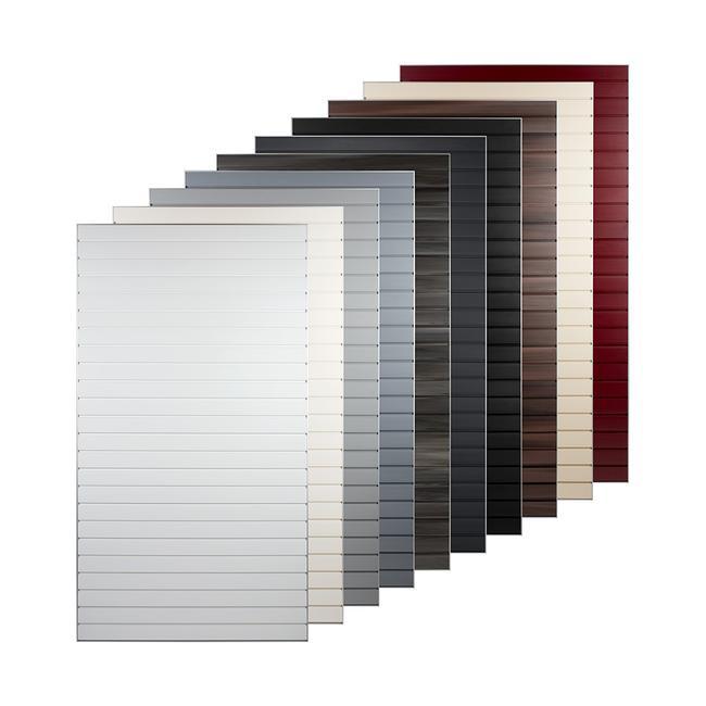 Lamellenwand FlexiSlot®-Kachel mit Aluminium Rahmen