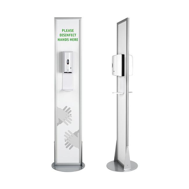 """Hygienestation """"Multi"""" 2-seitig mit Desinfektionsspendern"""