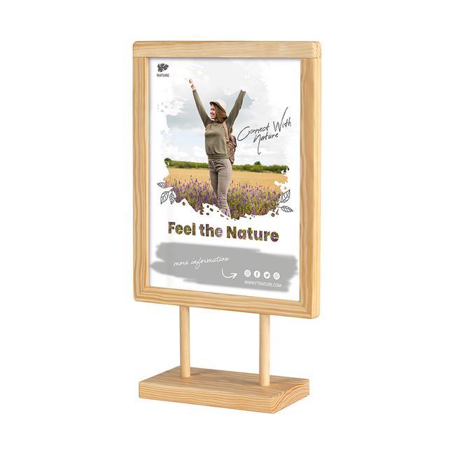 """Plakat-Tischständer """"Kavero"""" aus Holz"""