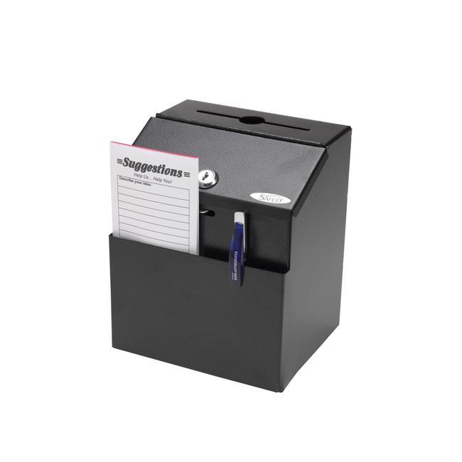 Suggestion Box aus Stahl, schwarz