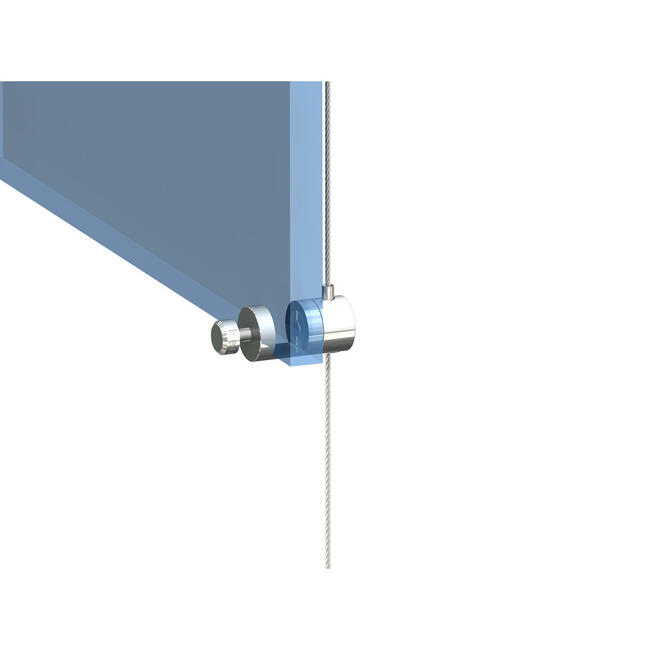 Drahtseilhalter mit variabler Einschubstärke