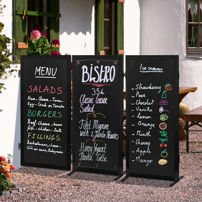 "Kreidetafel - Trennwand ""Café"""