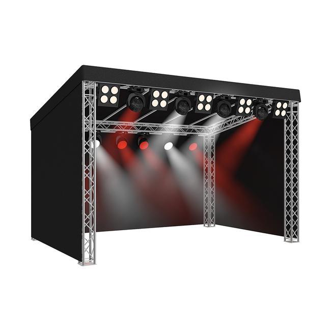 Bühne mit Flachdach