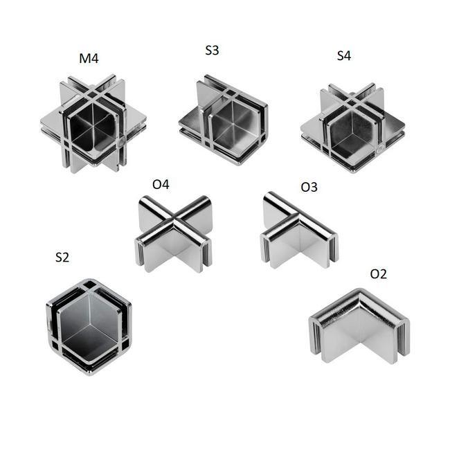 Plattenverbinder für Selbstbauvitrinen