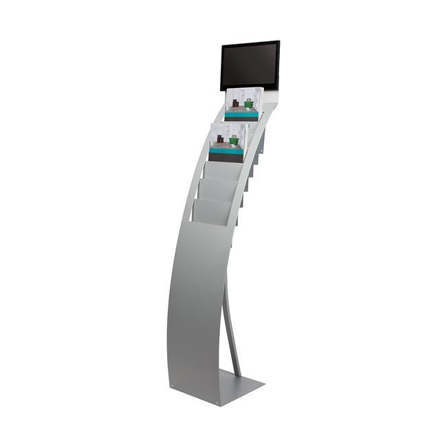 """Prospektständer mit digitalem Bilderrahmen """"STAND.Flash SIZE Slimline14"""""""