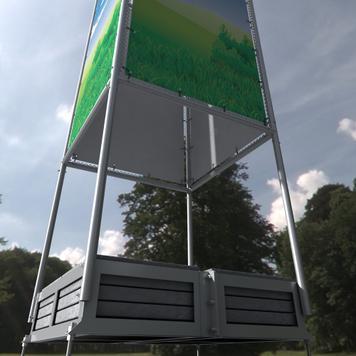 """Bannerrahmen Stecksystem Stahl """"Quattro"""""""
