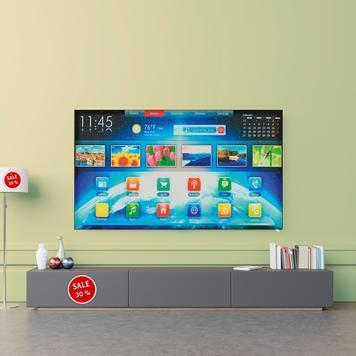 Stretchframe TV-Attrappe zur Wandmontage