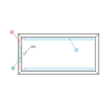 "bannergear® Stand ""Betonfuß LED"", 2-seitig"