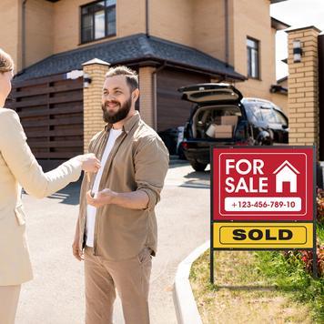"""Schildaufsteller """"Real Estate"""""""