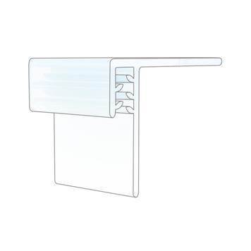 Supergreifer zum Aufkleben auf Regalböden aus Holz, Glas und Metall