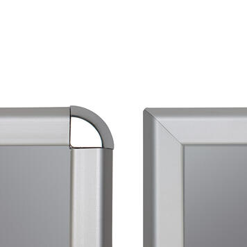 Kundenstopper, 32 mm Profil, Rondo- / Gehrungsecken