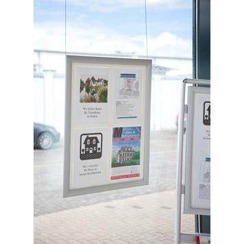 "Regenwasserfester Klapprahmen ""Broker"", für 4x DIN A4 / 6x DIN A4 Plakate"