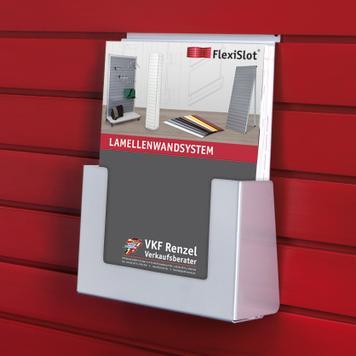 FlexiSlot®-Prospektfach, Hochformat, unterschiedliche Abmessungen