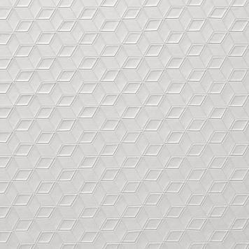 FlexiDeco-Stylepad / Vinyl, Würfelstruktur perlgrau