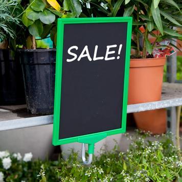 Plakatrahmenhalter für Pflanzencontainer