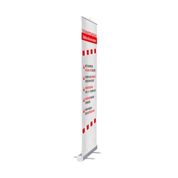 "Roll Up Banner ""Stick"" inkl. Banner ""Abstand halten"""