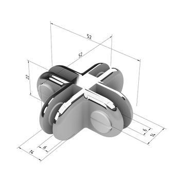 Verchromte Plattenverbinder