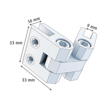 Verbindungselement aus Aluminium, beweglich