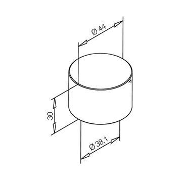 Endkappe für Rohre, Zink-Protectan Edelstahleffekt, flach