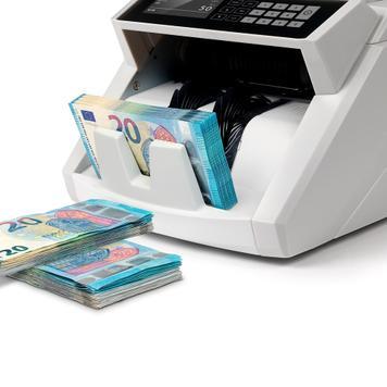 mit 7-facher Falschgeldpr/üfung /& 1250 geldz/ählmaschine Safescan 2465-S Banknotenz/ähler f/ür gemischte Geldscheine automatischer m/ünzz/ähler und sortierer f/ür Euro M/ünzen