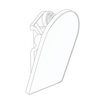 Klammer mit Klebefläche