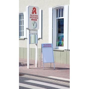 """Regenwasserfester Kundenstopper """"Smart"""", 25 mm Profil, mit Gehrungsecken"""