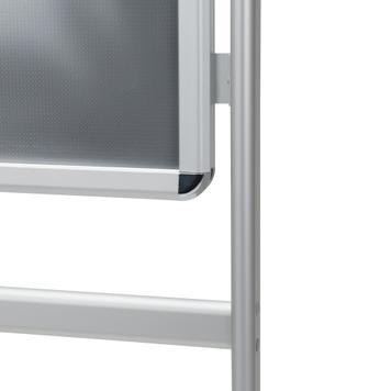 "Plakatständer ""Info"", 32 mm Profil, Rondoecken, silber eloxiert"