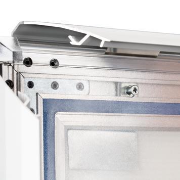 """Regenwasserfester Kundenstopper WindSign """"Seal"""", 44mm-Profil,  silber/grau"""