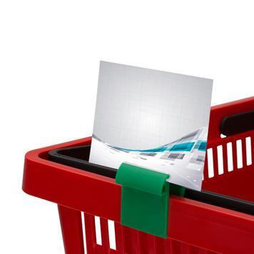 Display Clips für Kisten oder Körbe