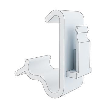 Klammer für Tegometall-Regalboden, 2-stufig