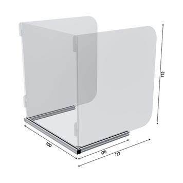 Niesschutz 3-seitig für Tische