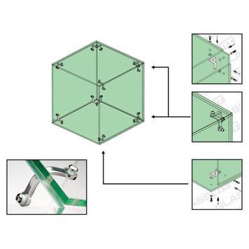 Glasverbinder für Selbstbauvitrinen