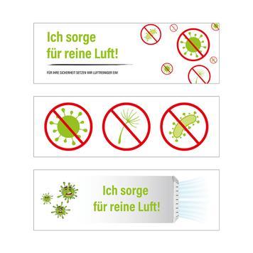 Sticker-Set Luftreiniger