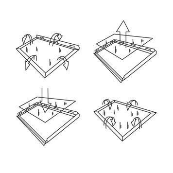 Kundenstopper, 25 mm Profil, Rondo- / Gehrungsecken